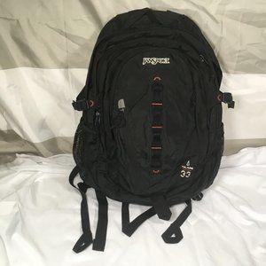 Black Jansport Tulare 33 Backpack Hiking Sport